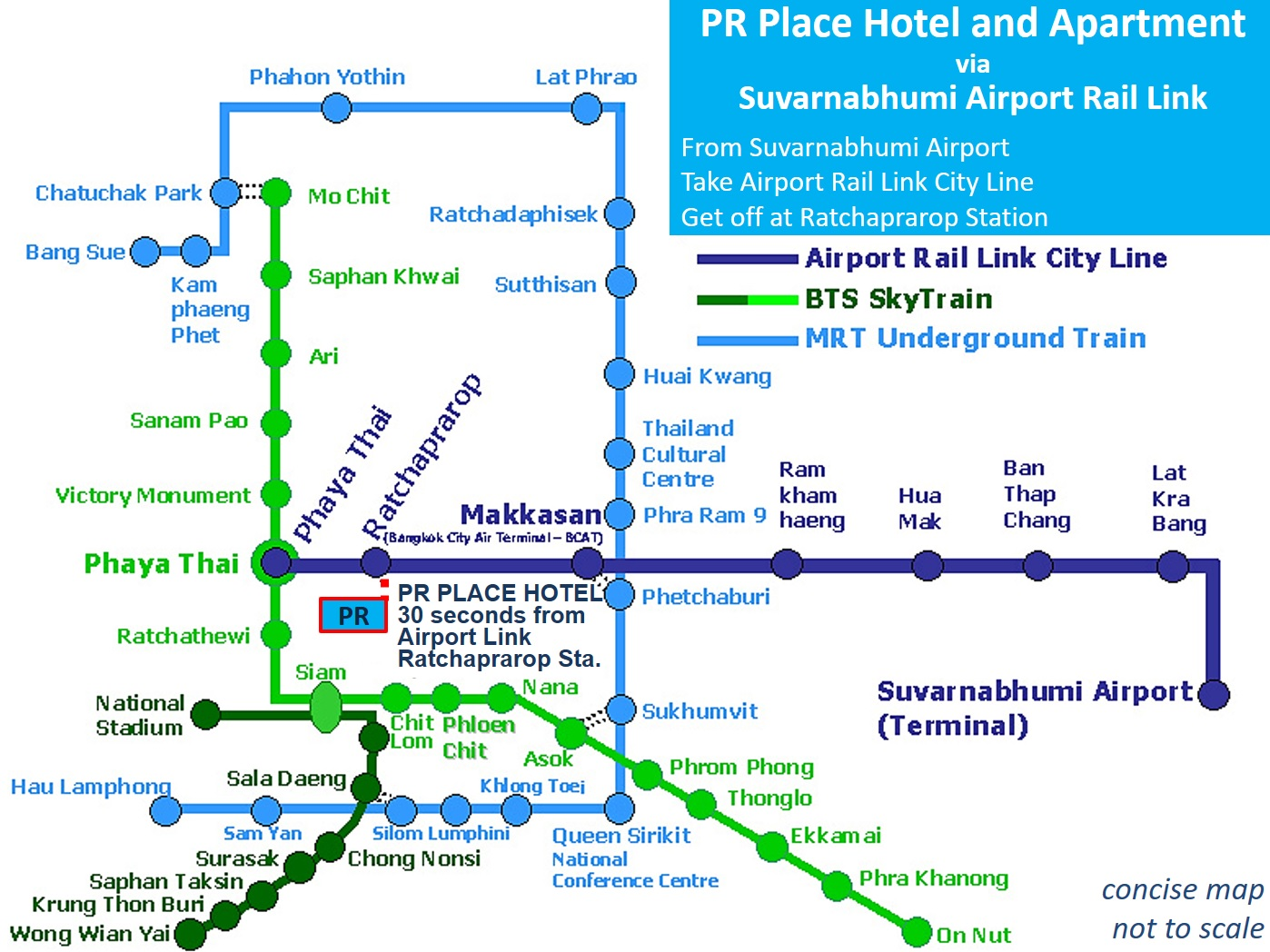 airport rail link map Location Pr Place Hotel And Apartment airport rail link map